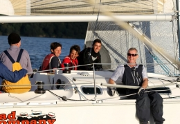 AUG Cruisers+Monaco sailors racing Admirals boat (Paul Keal)