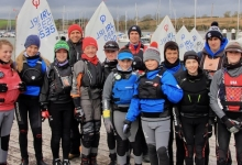 Optimist sailors and coaches