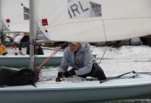 Laser Radial sailors launching