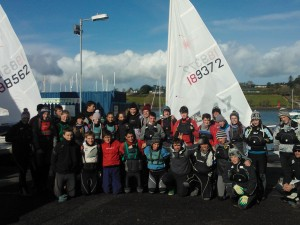 A photo of all the sailors at RCYC Laser Week 2012