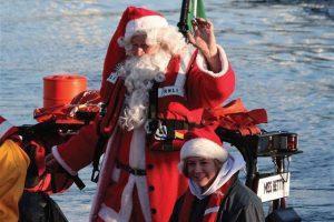 Santa on his way into Royal Cork