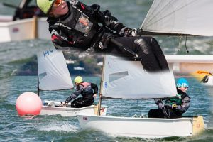 Optimist training action from today (Sat.) Picture Robert Bateman