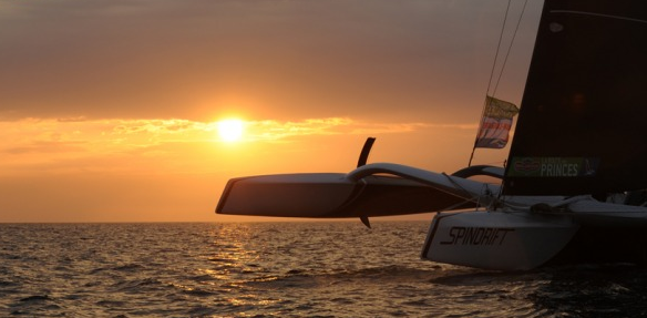 A glorious sunrise greets Spindrift. Picture Marcel Mochet