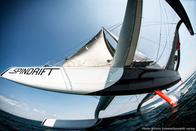 An unusual angle of Spindrift. Picture Chris Schmid.