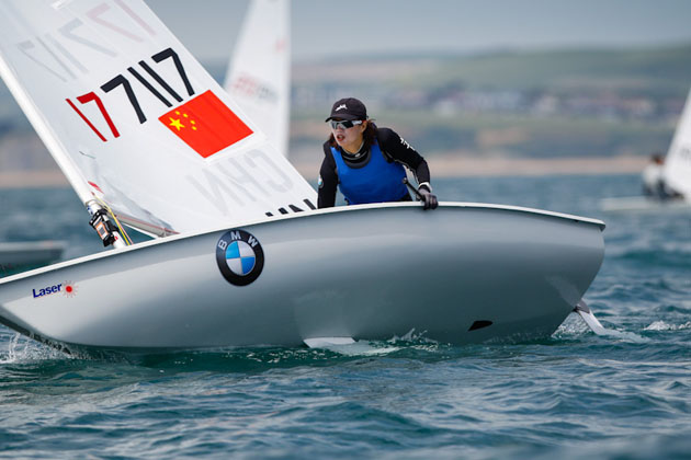 Lijia Xu current Laser Radial Olympic Gold Medalist competing at Sail for Gold 2013 today. Picture Paul Wyeth