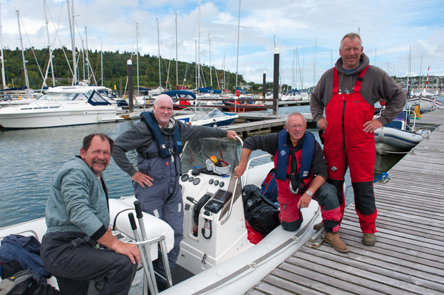 SligoYC RIB crew. L. to R. Richie Cunningham, John Garvey, Paul Leyden and Derek Shaw. Missing from picture crew members Donal O'Connor and Walker Shaw. Picture Robert Bateman