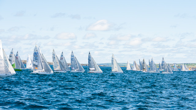 Start Line action from the 42 boat Fleet of 2.4R dinghies.Picture Ronert Bateman