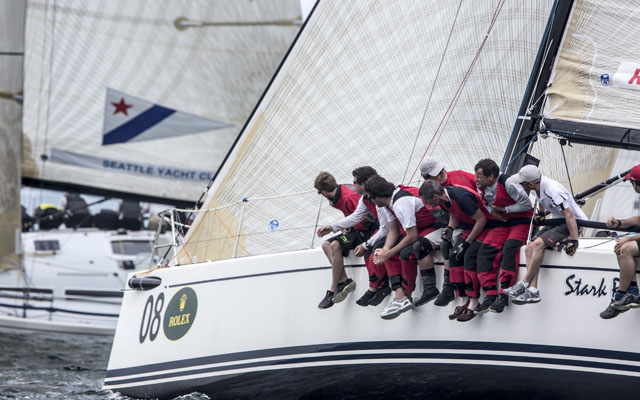 STARK RAVING MAD, Bow # 08, Royal Cork YC, Skipper: Anthony O'Leary, Tactician: Nicholas O'Leary,  Picture  Daniel Forster