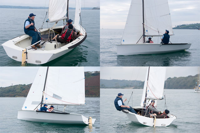 A couple of views of the new National 18 prototype in light winds.  Picture Robert Bateman