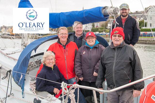 The genial Michael Murphy and his smiling crew from Shelly D in good mood after today's race.  Pic Robert Batemn