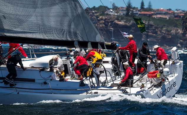 The Cookson 50 (ex Jazz) takes the overall handicap victory at Rolex Sydney Hobart 2013. Picture Carlo Borengi