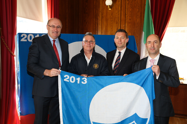 Presentation of blue flag to the Royal Cork Yacht Club 2013