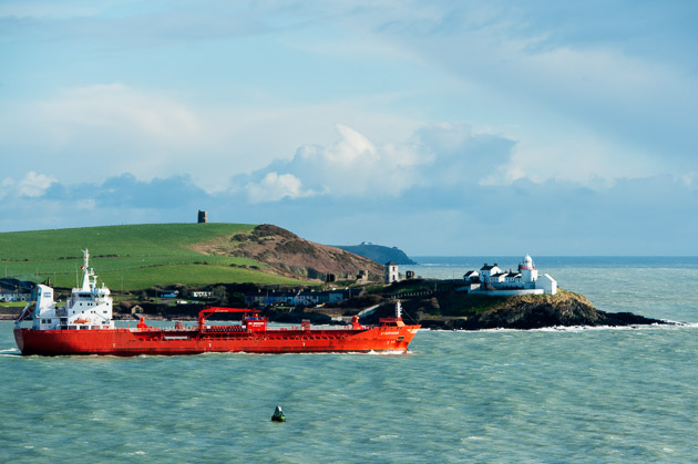 Outward bound at Roches Point