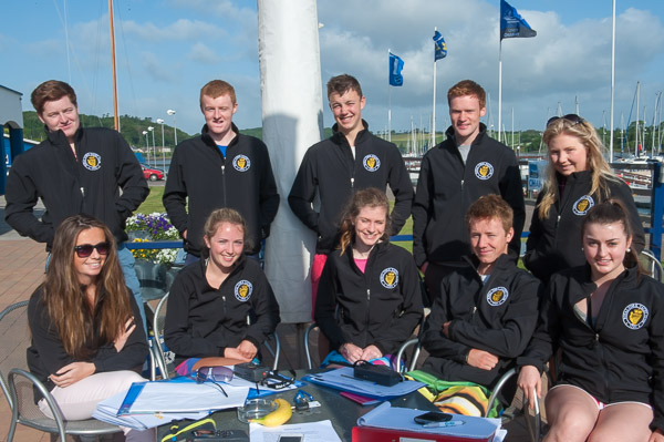 Emma Hett with her 2013 Instructors at the Royal Cork Yacht Cluib. file pic. Robert Bateman