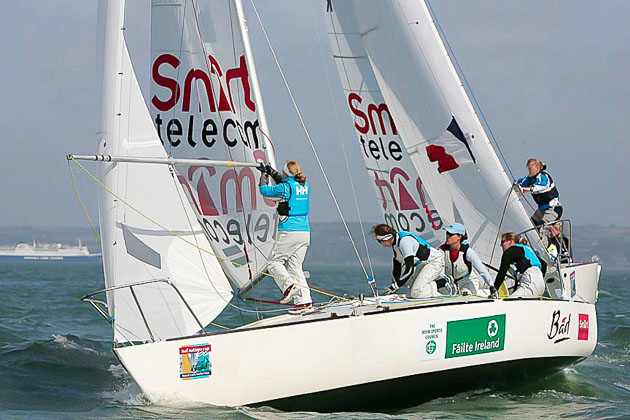 Claire Leroy of France who won the 2006 Women's Match Racing event at Croshaven.  File Pic Robert Bateman.