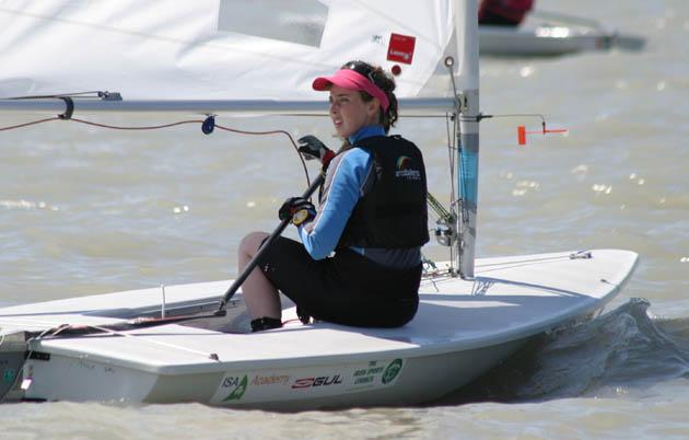 16 year old Sorcha  Ní Shuilleabháin  of Kinsale Yacht Club.  Picture Robert Bateman