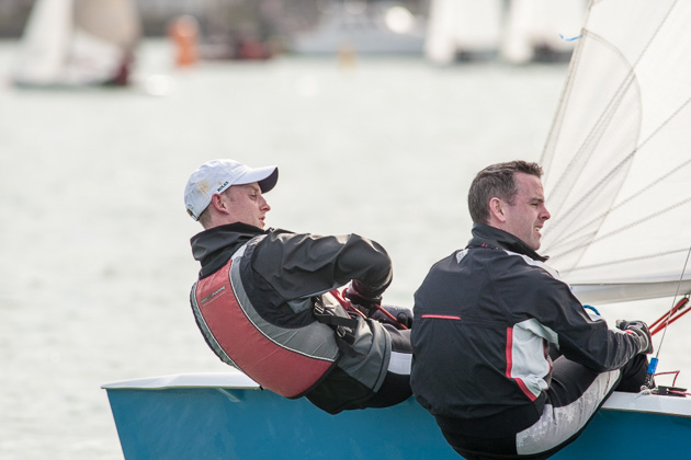 Alex and Colin Barry sailing an RS 200 winners of the PY500 Race