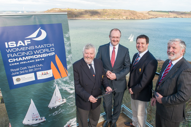 Pictured at to-day's launch L. to Royal Cork Admiral, Pat Lyons, Declan Daly, Temporary Manager Cork County Council, Event Chair, Ronan Enright and Captain Michael McCarthy of the Port of Cork.Picture Robert Bateman.