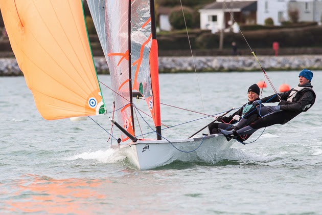 Patrick and Sean sailing in the PY500 River Race at the club last month - Pic: Robert Bateman