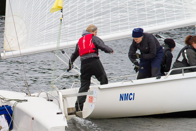 Laura Dillon sailing in the recent Nathan  Kirwan Trust Invitational event. Picture Robert Bateman