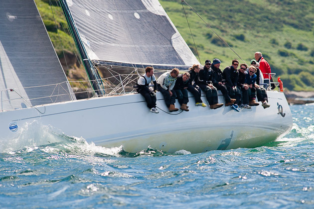 Quokka, Grand Soleil 43, sailing at Cork Week recently. Picture Robert Bateman