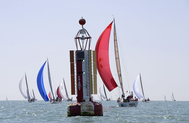 The fleet heading away from the Fairway Buoy. Picture Rick Tomlinson/RORC