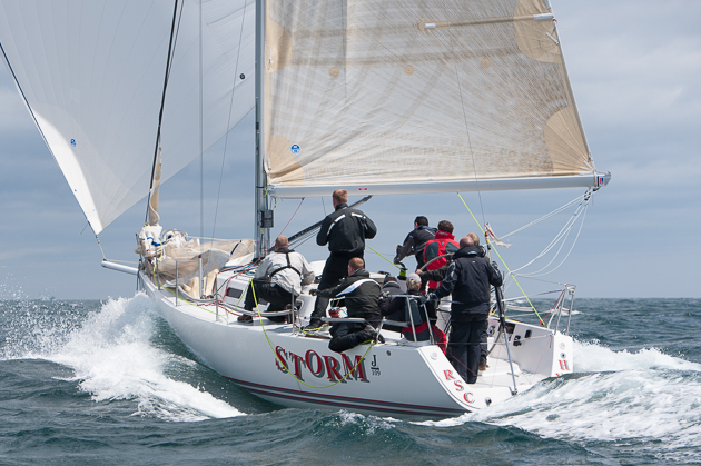 Pat Kelly's Storm from Howth and Rush one of the  J109 class entries Picture Robert Bateman