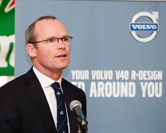 Minister Coveney speaking at the Official Opening. Pic Robert Bateman