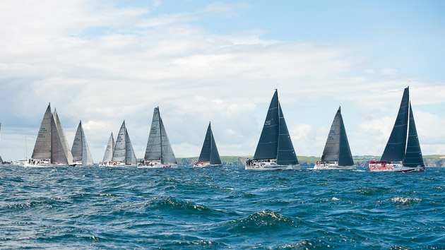 Fleet A coming off the start line. Picture Robert Bateman