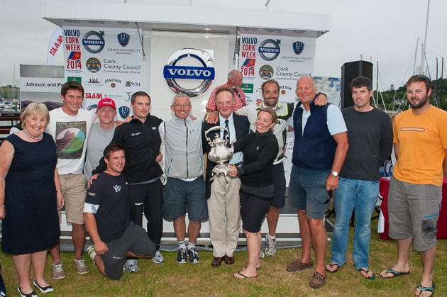 The crew of Quokka winners of the Kinsale Kettle. Picture Robert Bateman