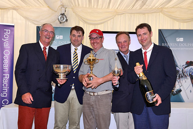 Awards at the Brewin Dolphin Commodores' Cup 2014 at the Royal Yacht Squadron Cowes.Picture Rick Tomlinson