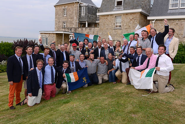 Team Ireland celebrate outstanding triumph. Picture Rick Tomlinson