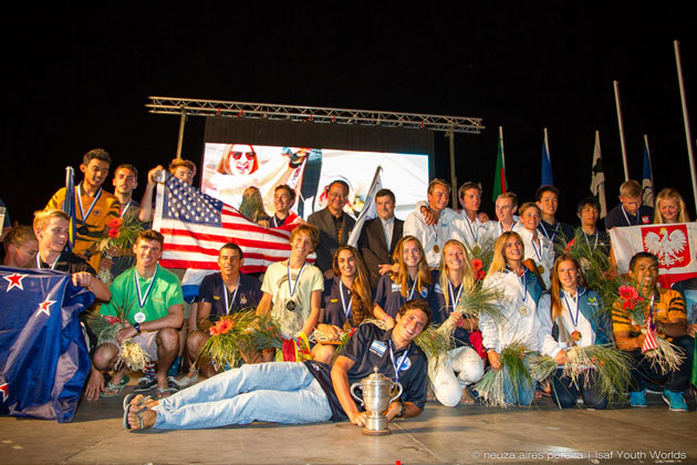 ISAF Youth Worlds 2014. Laser Radial prizegiving.