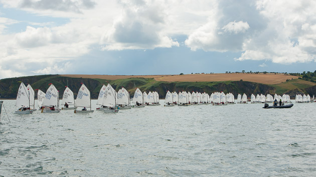 The second start of the day for the Junior Fleet. Pic Robert Bateman