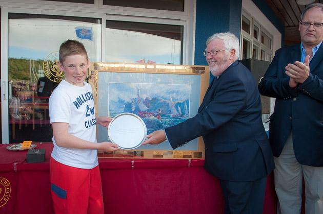 Iriah Senior National Champion James McCann receiving his award from Admiral Pat Lyons