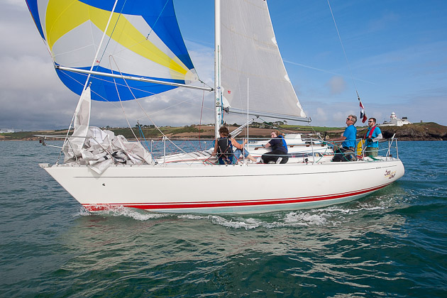 Wendy and Clem McElligot's Sea Hawk passing Roches Point in Race 2 today. Pic Robert Bateman