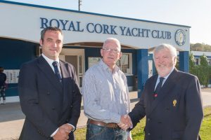 Right to Left Admiral Pat Lyons Steven Higgins and Rear Admiral Kieran O Connell