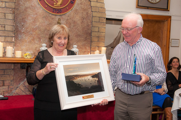 Pat Vaughan receiving the WS 1st place Heineken Overall prize and the Liam Kennedy photograph. Pic Robert Bateman