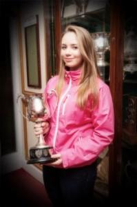 Georgia Keating winner of the RS Feva summer league