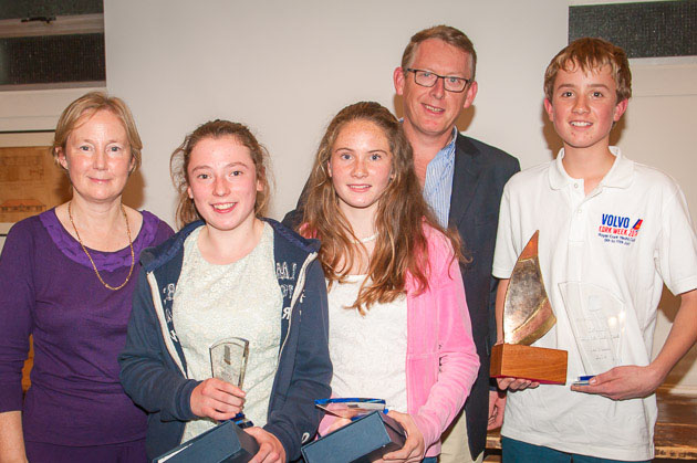 Picture Shows: L. to R. Imelda D'Arcy Topper Class Captain, Maeve O'Sullivan 3rd overall, Caoimhe Foster 2nd overall, Brian Jones and Tom Keal  winner of the Brian Jones Topper Perpetual Ttrophy.  Pic. Robert Bateman