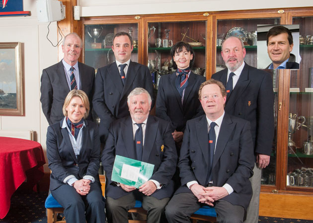 The 2015 Executive Committee of the Royal Cork Yacht Club: Front row  L. to R. Michelle D'Arcy, Hon. Treasurer, Admiral Pat Lyons, Vice Admiral John Roche.  Back Row Cathal Conlon, Marie and Facilities, Kieran O'Connell, Rear Admiral Keelboats, Celine McGrath, Rear Admiral Dinghies  and James O'Sullivan, Rear Admiral cruising. Inset John Neville, Ba, Houser and Catering. Picture Robert Bateman