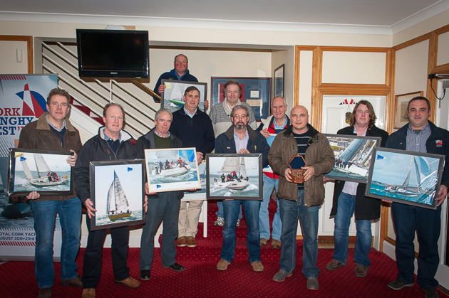 Some of the prize winners pictured at the SCORA AGM  last Friday evening. Pic. Robert Bateman