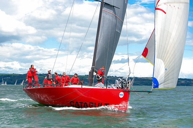 """Catapult' sailing in Volvo Cork Week 2014.  Photo Robert Bateman"