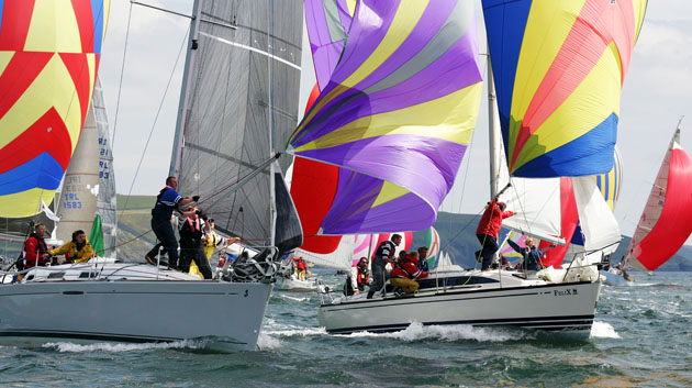 Michael Wallace of Royal Cork Yacht Club sailing 'Felix' at the Sovereign's Cup Regatta 2005. Picture Robert Bateman