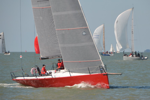 Antix helmed by Anthony O'Leary in the Solent.