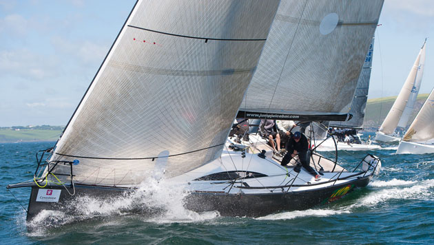 The Royal Cork Class Zero entry, Conor and Denise Phelan's  Jump Juice, will lead the charge at the forthcoming ICRA Nationals/Sovereign's Cup at Kinsale Yacht Club. Picture  Robert Bateman