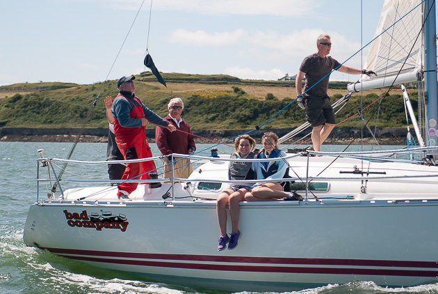 The Deasy./Desmond.Ivers Bad Company crew obviously having a cracking sailing day. Picture Robert Bateman