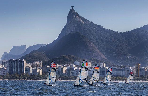 The splendid backdrop for the Olympic Dress Rehearal. Picture Jesus de Renedo