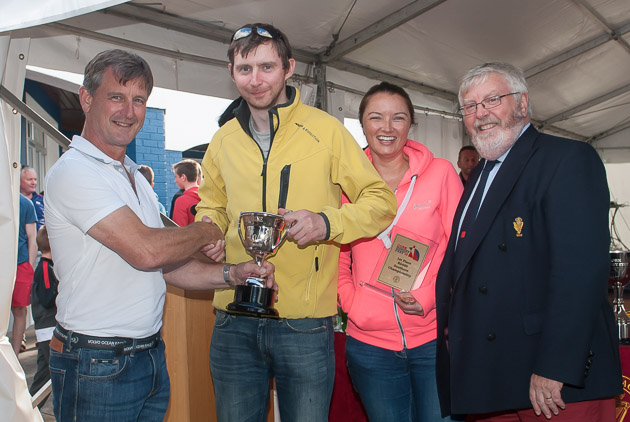 Nick Bendon of CH Marine with Paul McMahon, Laura Houlhan and Admiral Pat Lyons. Pic Robert Bateman