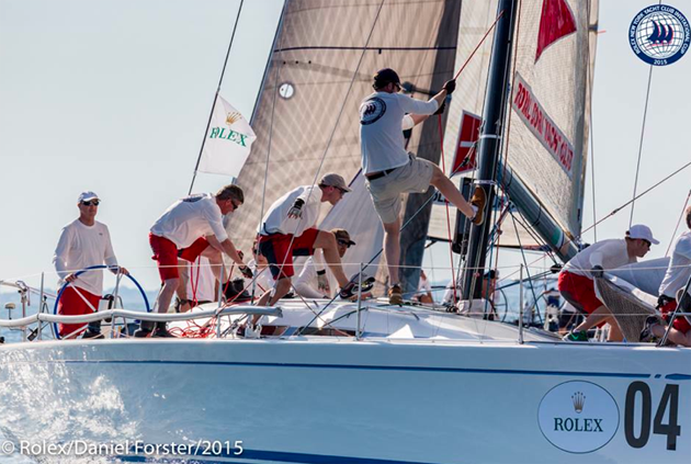 Light air racing for Day 2 at the Rolex NYYC Invitational Cup. Photo Daniel Forster